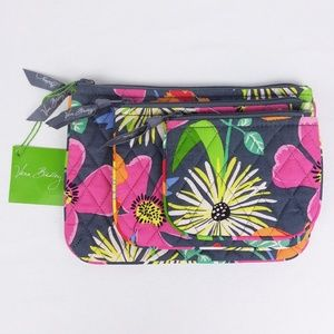 NWT Vera Bradley Jazzy Blooms Cosmetic Trio Bags